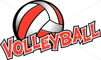 red & white volleyball