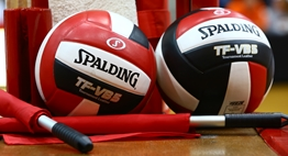 Red and Black Volleyball