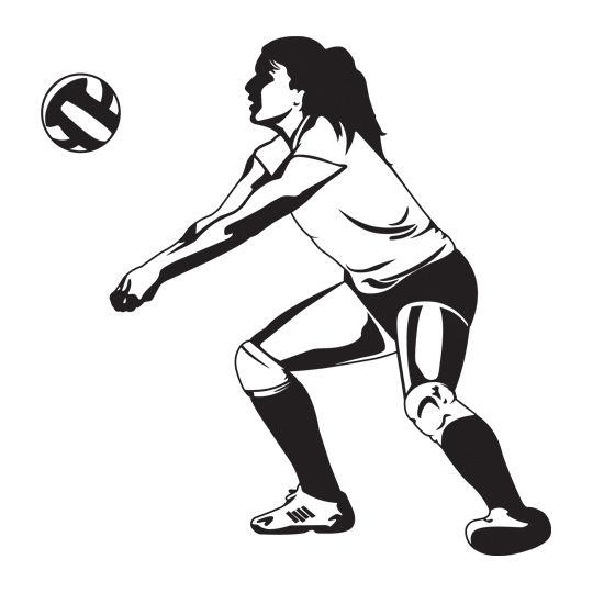 Volleyball player passing ball