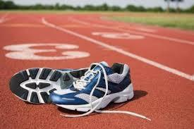 track with tennis shoes
